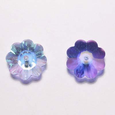 swarovski schijf bloem light sapphire 10 mm