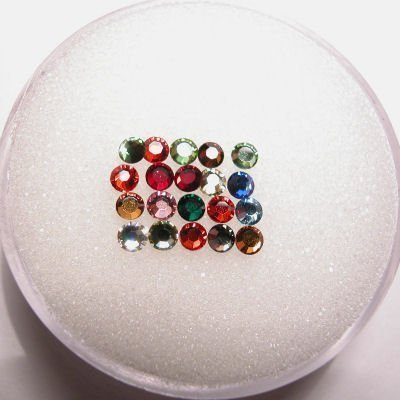 swarovski plaksteen rond mix 2 mm