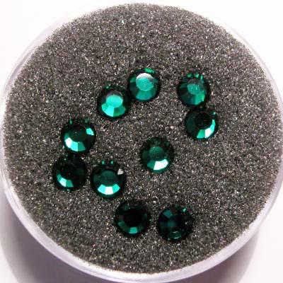 swarovski plaksteen rond emerald 4 mm