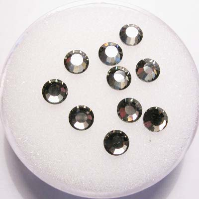 swarovski plaksteen rond black diamond 4 mm