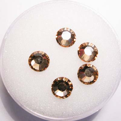swarovski plaksteen rond light topaz 6 mm