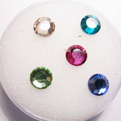 swarovski plaksteen rond mix 6 mm