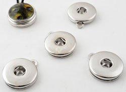 Easy button metalen hanger zilver
