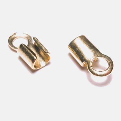 veterklemmetje goud 4x2 mm