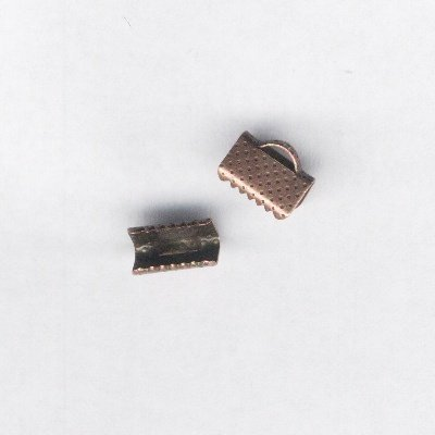 veterklem roodbrons 10x6 mm