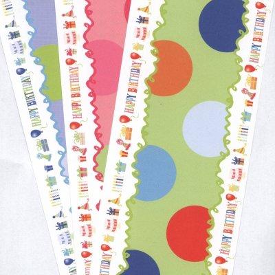 vouwkaart verjaardag  groen 10x30,5 cm