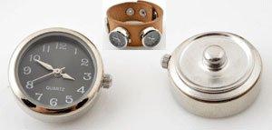 Easy button met klokje zilver/grijs