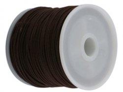 elastisch draad/stiek 1 mm bruin