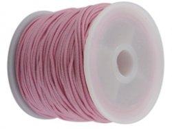 elastisch draad/stiek 1 mm licht roze