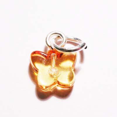 acryl vlindertje geel oranje 7x8 mm
