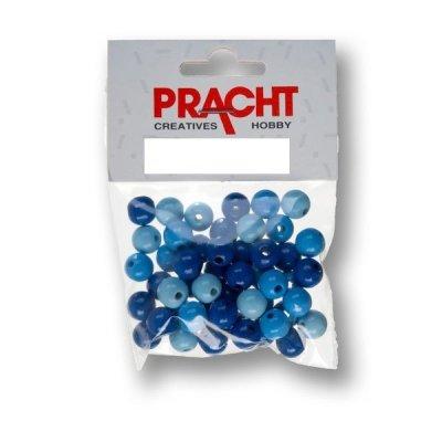 kralen mix blauw 6 mm