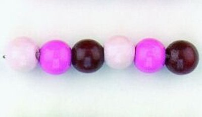 kralen mix roze 6 mm