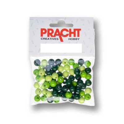 kralen mix groen 6 mm