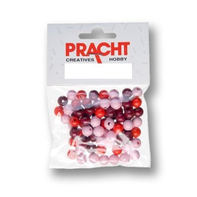 kralen mix rood 4 mm