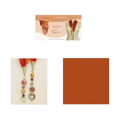 sjaal juweel kit 52x150 cm roest