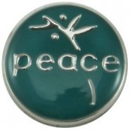 Easy button peace petrol blauw