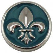 Easy button franse lelie blauw