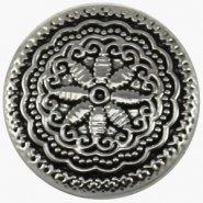 Easy button antiek zilver