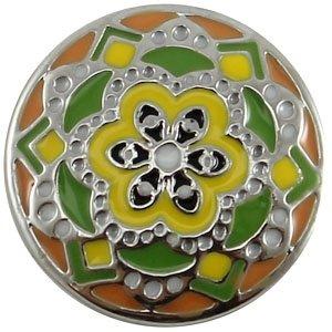 Easy button bloem geel oranje groen