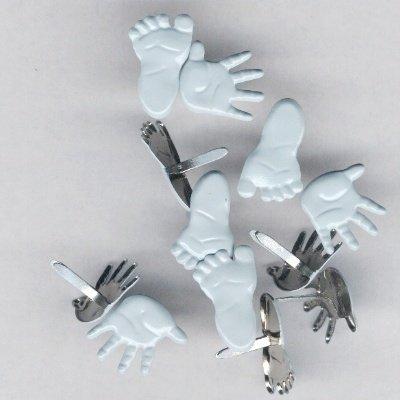 brads handen en voeten 12 mm blauw
