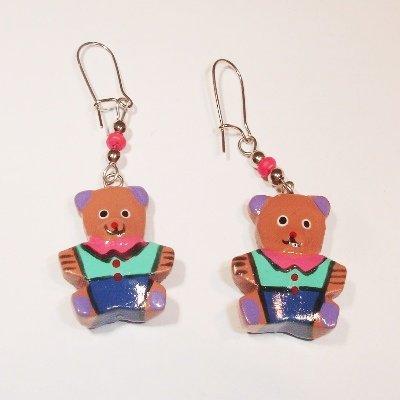 oorbellen beer roze