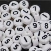Acryl kralen cijfers wit 7mm