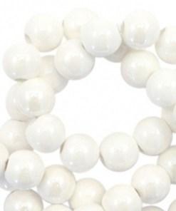 Kralen keramiek 10mm White
