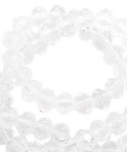 Top Facet kralen rondell 6x4mm Crystal