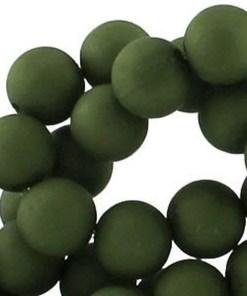 Acryl kralen mat 10mm army