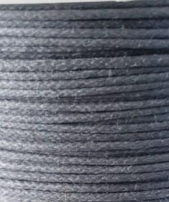 Waxkoord 1.0mm grijs (1M)