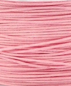 Waxkoord 1.0mm roze (1M)