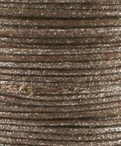 Waxkoord 1.0mm bruin glitter (1M)