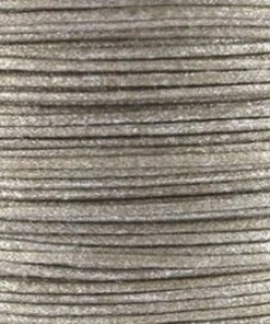 Waxkoord 1.0mm licht bruin glitter (1M)