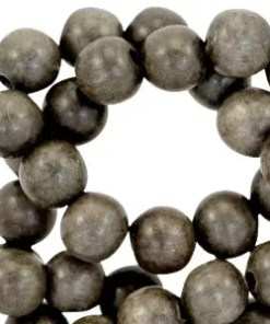 Houten kralen rond 6 mm Grey wood (natuurlijke kleur van hout)