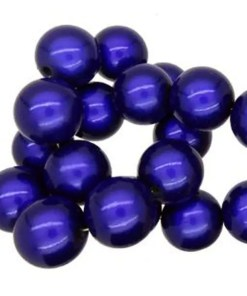3D Miracle beads rood 6mm Kobalt blauw