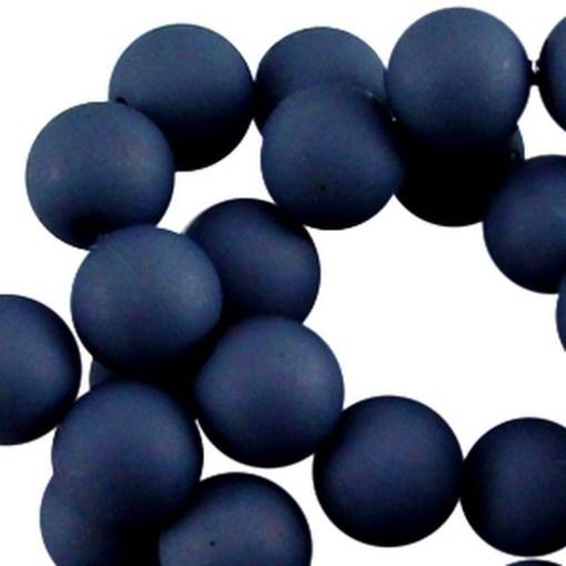 8mm acryl kralen matt Donkerblauw