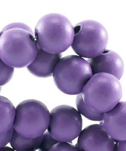 Houten Kralen Violet 10mm