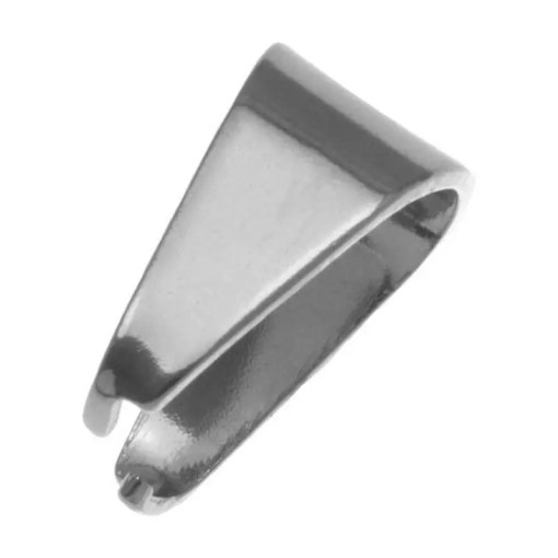 Stainless Steel Bedel Hanger (8 x 7 mm) Antiek Zilver