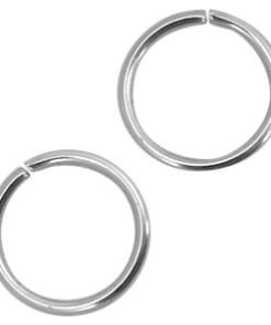 Roestvrij stalen (RVS) buigring stainless steel 5mm Zilver (RVS)