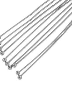 Stainless Steel Nietstiften Bol (40 mm) Antiek Zilver