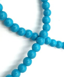 Glaskralen 6mm turquoise