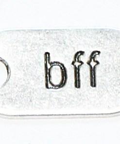 Metalen Bedel BFF zilver