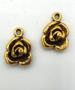 Bedel munt Roos antiek goud (12x18mm)