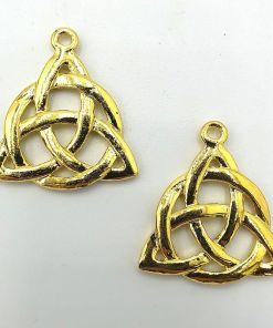 Keltische knoop 35x31mm goud