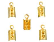 Metalen veter/leerklemmetjes goud 9,5x4mm