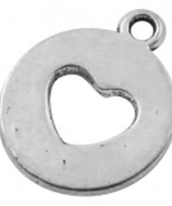 Bedel hart 14x18mm antiek zilver