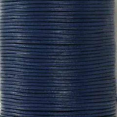 DQ Leer rond 1mm donkerblauw