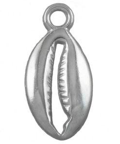 Bedel Kauri Schelp 15x9mm Antiek Zilver