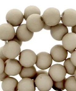 6 mm acryl kralen Vetiver grey