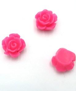 Acryl kraal roos Fuchsia 10mm